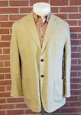 Gant 100% Linen 2-Button Mens Blazer Surgeon Cuffs Khaki Mens Size 54(eu) 44(us)