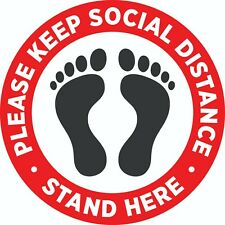 "Social Distancing Floor 11"" Vinyl Decal Sticker - MADE IN USA"
