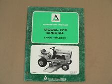 Allis Chalmers Model 616 Special Lawn Tractor Owners Manual Maintenance 1980
