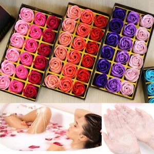 18Pcs Set Rose Bath Soap Flower Petal With Gift Box For Wedding Party Girls