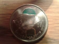 2011 Canadian coloured bison quarter lightly circulated