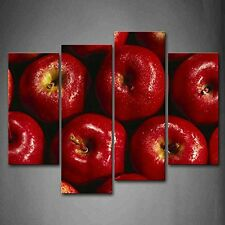 Red Apple Wall Art Canvas Painting Fruit Pictures Photo Print Framed Home Decor