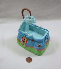 FISHER PRICE Loving Family Dollhouse BABY BOY BLUE BASSINET CRIB Mobile Rare!