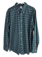 Brooks Brothers Regent Button Down Shirt Mens XL Green Plaid Long Sleeve Cotton