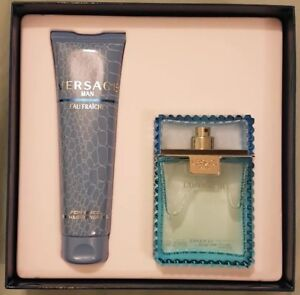 Versace Eau Fraiche Gift Set for Men: EDT 3.4oz & Shower Gel 5oz NEW Authentic