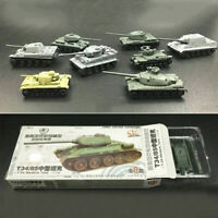 8pcs WWII Military Army Armor Battle Tank 4D Assembled Model Play Toy Kit 1:144