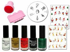 Weihnachts Stamping Set 5x StampingLack M12 Konad Weihnachten Sticker X-Mas