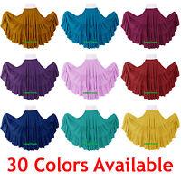 100% Cotton 10 Yard 3 Tiered Gypsy Skirt Belly Dance Flamenco Soft Jupe Boho