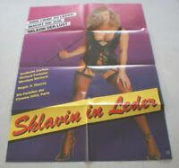 A1 Filmplakat ,SKLAVIN IN LEDER, ANNIBELLA CARLTON,SEX AKT ;NUDE
