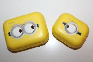 Tupperware MINION kinder Twin 2-tlg.Set Box Dosen Frühstückdox Pausen DOse gelb