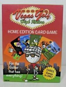 Vegas Golf High Rollers - Home Edition Card Game (3 Games in 1) Open Box