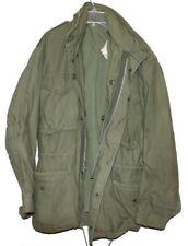 US Army Military 19768 Issued M-65 Mens Field Coat Jacket W/Hood OG-107 Med/Reg