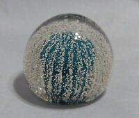 Vintage Art Glass Round Paperweight