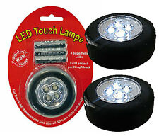 2 x Mobile Touch Lampe mit 4 LED's - inkl.Batterien NEU