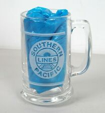 1999 Southern Pacific Lines Railroad Glass Mug Safety Award Chicago Division
