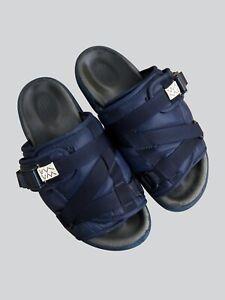 Visvim Christo Navy Mr. Porter Exclusive Slides Sandals - Size M