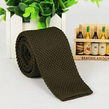 Men Knitted Tie Necktie Knit Woven Silk Narrow Slim Skinny Casual Tie New