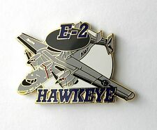 HAWKEYE USN US NAVY E2 E-2 TACTICAL EARLY WARNING AIRCRAFT LAPEL PIN BADGE 1.25""