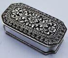 Fine Antique Solid Silver Betel Nut Box; Dutch East Indies; 1938