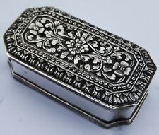 More details for fine antique solid silver betel nut box; dutch east indies; 1938
