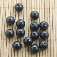 4MM 40pcs Black Agate Wholesale Natural Gemstone Round Spacer Beads DIY Making