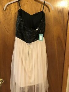 maurices strapless high low dress new with tags size3/4
