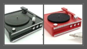 1:12 scale dolls house miniature handmade retro record player 2 to choose from