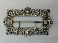 Antique Sterling Silver Buckle King & Sons Chester England 1895 Art Nouveau 31 g