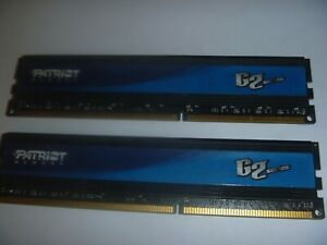 Patriot G2 Series 8GB 2x4 GB RAM Memory Desktop PC3 12800U DDR3 1600 1.65V CL9