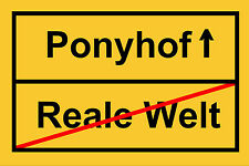 Fußmatte - Fußabtreter - Schmutzfangmatte - Ponyhof - Türmatte - Türvorleger NEW
