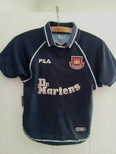 West Ham United Football Shirt Third Top 1999 Fila Retro Vintage Original Jersey
