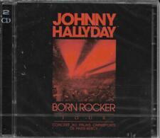 DOUBLE CD 28 TITRES JOHNNY HALLYDAY BORN ROCKER TOUR PARIS BERCY NEUF SCELLE