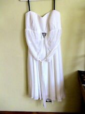 DBI STUDIO STRAPLESS WEDDING GOWN.  SIZE 2X. ONLY WORN ONCE.  100% POLYESTER
