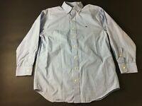 Vineyard Vines Mens Blue Plaid Button Front Classic Fit Whale Shirt Size Medium