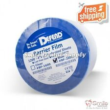 """4""""x6"""" Barrier Film Blue Non-Stick Edge 1200 Sheets Defend #BF-2600 without Box"""