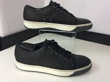 Lanvin Men's Sneakers, Croc Print Leather Uk 6 Eu40, Navy Blue, Trainers Shoes