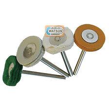 Silverline giratorio herramienta holgado Leaf pulir kit 4 piezas 20mm dia 196590