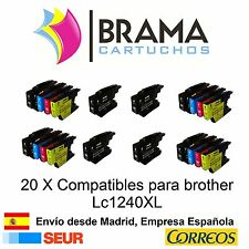 20 x compatibles Brother Non-oem para Lc-1220 Lc-1240 MFCJ280W MFC J5910DW 1240