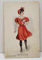 Bathing Girl By P. Gordon 1908 Emmitsburg Md Postcard C4