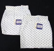 2 Pair Vintage 50s Deadstock Boxer Shorts 30 Sanforized Underwear Usa Gray Dots