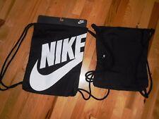 Nike Logo Gym Sack Backpack Sports / School Drawstring Bag Brand New