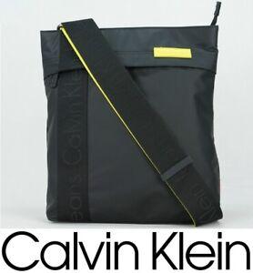 Calvin Klein Shoulder Bag Men New Authentic Messenger Black Yellow Fashion
