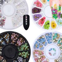 3D Strass des Ongles Cristal Nail Art Decoration DIY Manucure Roue Carrousel