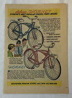 1959 Schwinn bicycle cartoon ad page ~ DELUXE HORNET AND HORNET
