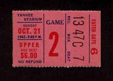 1962 NEW YORK GIANTS vs DETROIT LIONS  Ticket Stub