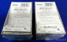 """MULBERRY 30203, ROYAL MOUNTIE OUTLET BOX, 1/2"""" NPT, 3 HOLE, LOT OF 2, NNB *PZF*"""