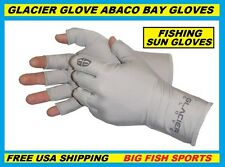 GLACIER ABACO BAY FINGERLESS FISHING SUN GLOVES Size SMALL/MEDIUM #009GY +50UPF