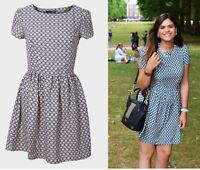 ex Branded Abstract Print Skater Casual Summer Holiday Dress