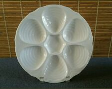 Hall 1151 China White Cream (5) Oyster Plates MULTIPLES AVAILABLE
