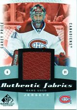 Carey Price 10/11 SP Game Used Authentic Fabrics #AF-CP